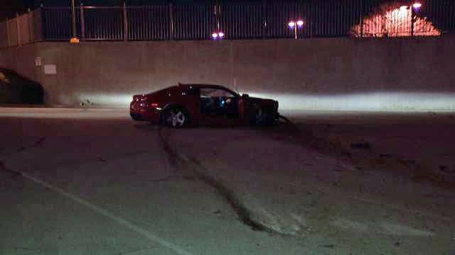 Tulsa Police: Man Wrecks Wife's OSU-Tribute Camaro, Blames Corvette
