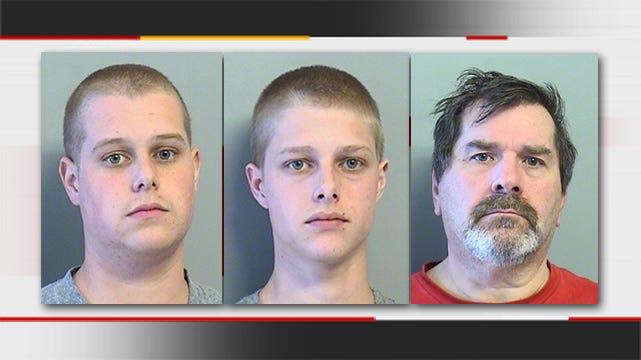 Broken Arrow Police: Brothers, Stepdad Arrested For Drugs, Cash, Firearm