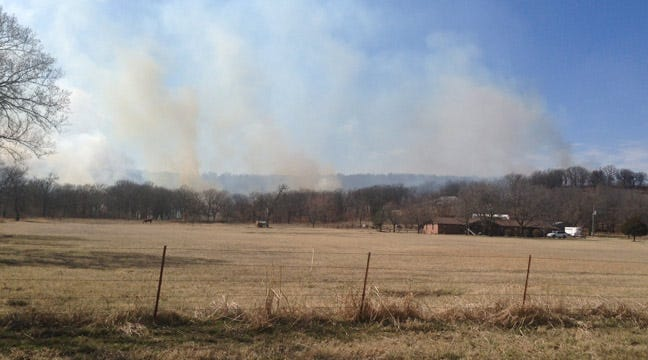 Dewey Firefighters Battle Grass Fire For Second Day