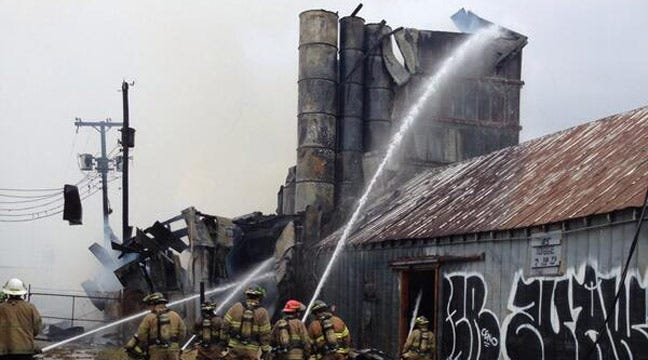 Tulsa's Historic Booster Feed Mill Destroyed By Fire