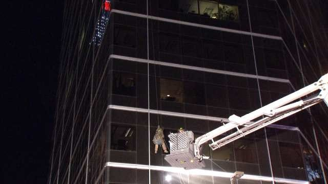 Firefighters Rescue Worker From Downtown Tulsa Building