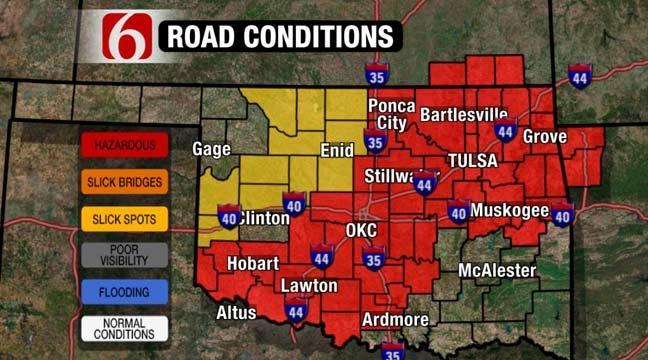 Drivers Urged To Use Caution On Slick Oklahoma Roads