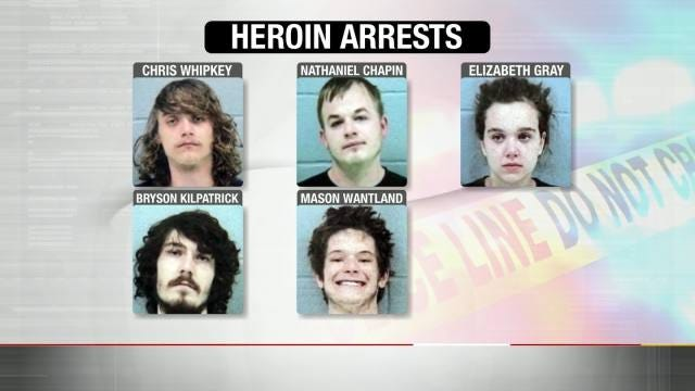 Five In Jail After Claremore Heroin Bust
