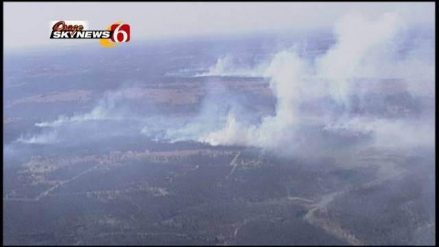 Gusty Winds Help Grassfires Burn Across Green Country