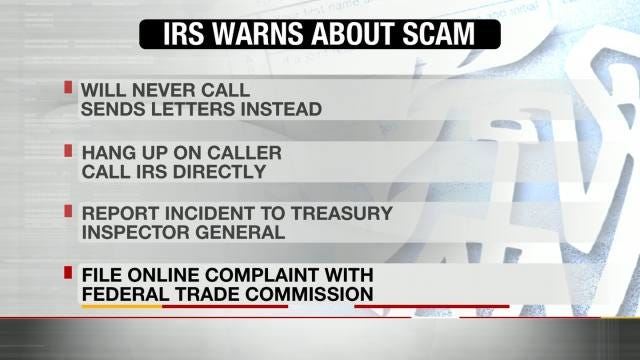 Oklahomans Should Be Cautious Of Largest IRS Scam In History