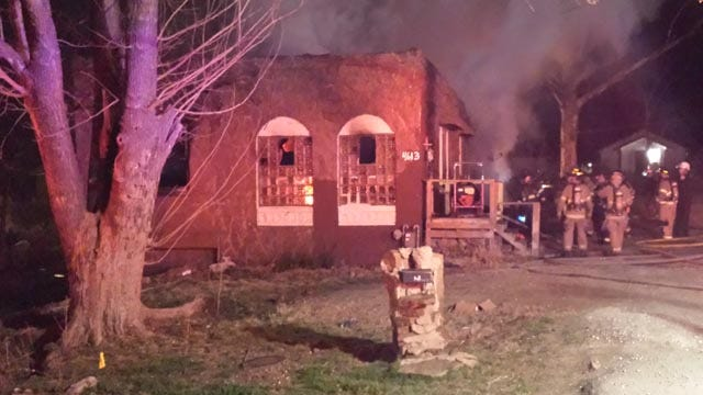 Firefighters Battle Flames At West Tulsa Home