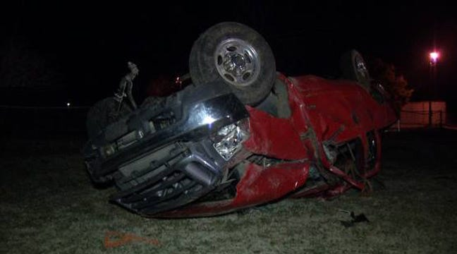 Four Teens Hurt In Rollover Wreck Near Sand Springs