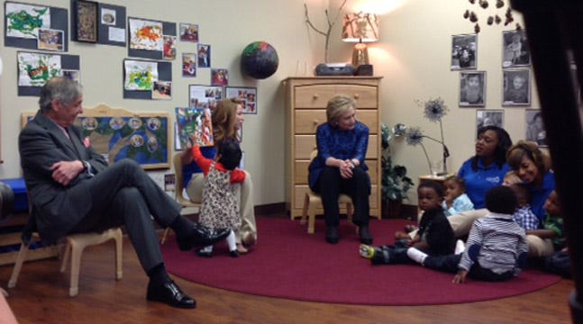 Hillary Clinton In Tulsa To Launch 'Talking Is Teaching' Initiative