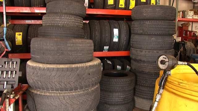 Recycled Tires Used To 'Pothole Proof' Tulsa Roads