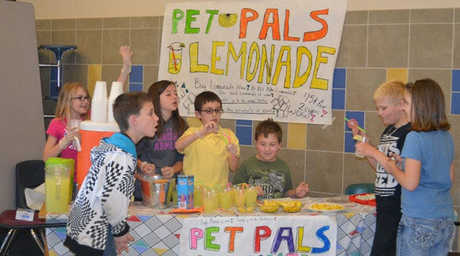 Pryor Students Have 'Lemonade War' To Benefit Animal Rescue Group