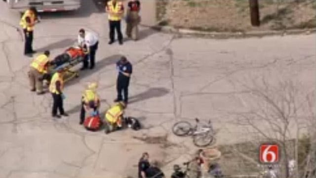 Tulsa Police: Vehicle That Hit Bicycle Rider Wasn't Theirs