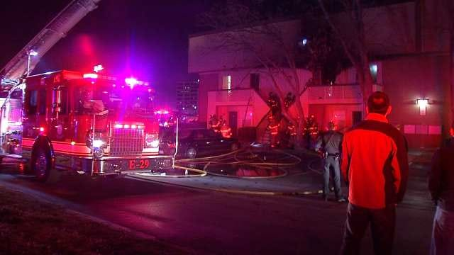More Than 40 Firefighters Work To Put Out Tulsa Apartment Fire