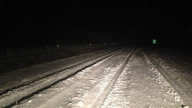 Crews Work To Clear Snow Covered Roads Across Northeastern Oklahoma