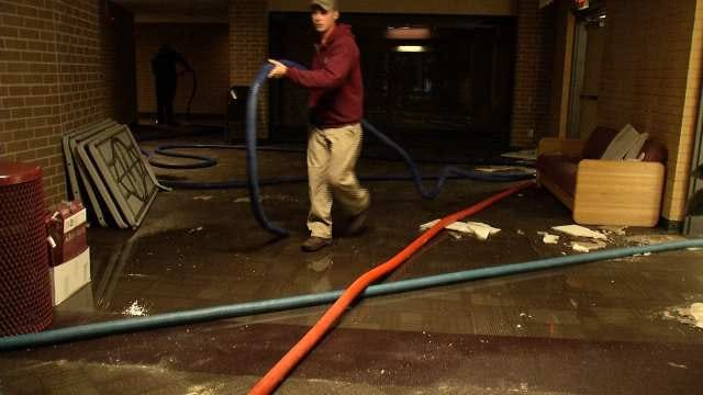 Jenks Schools Cleaning Up After Two Busted Pipes