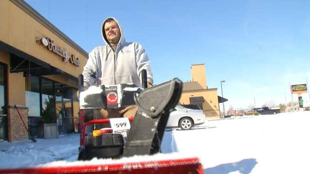 Private Plow Businesses Pile Up Snow, Money, After Oklahoma Snow