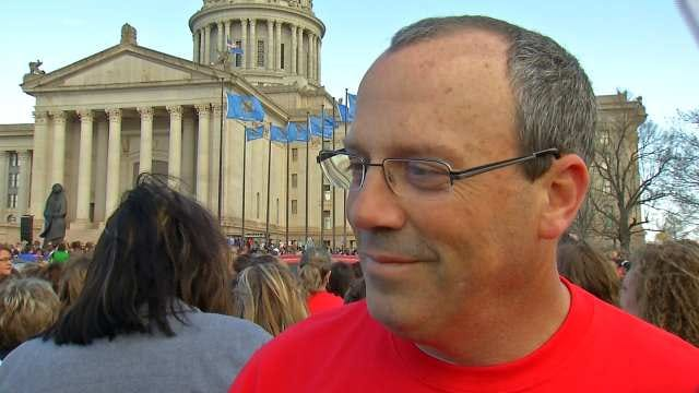 Tulsa Teachers' Message At Education Rally, 'Kids First'