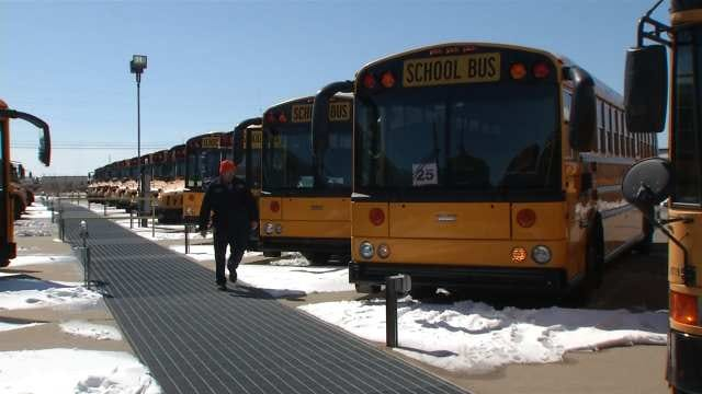 Ice Routes Not The Safest Alternative For Oklahoma School Busses