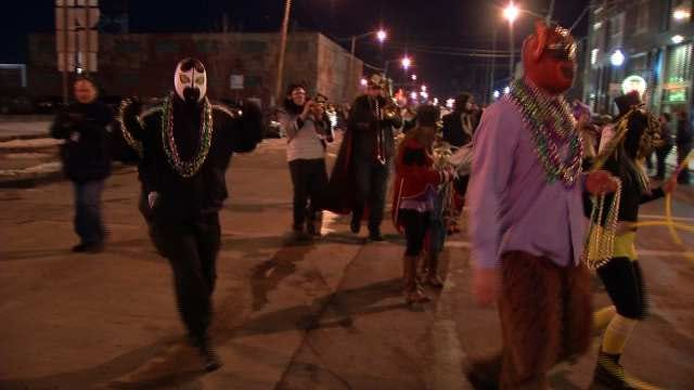 Mardi Gras Comes To Tulsa's Blue Dome District