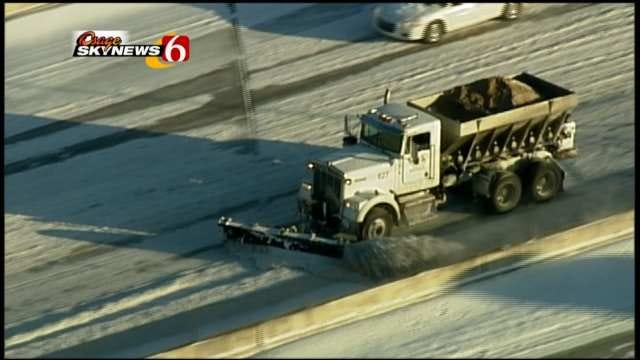 ODOT Responds To Plow Pushing Snow Over Median, Onto Tulsa Wreck