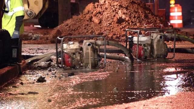 City Crew Cuts Gas Line While Repairing Tulsa Water Line Break
