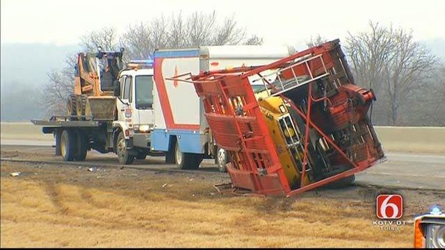 OHP: Sleepy Driver Wrecks RV On Turner Turnpike Near Bristow