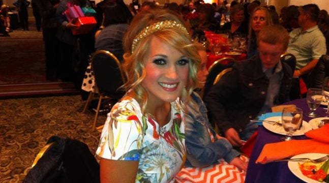 Country Music Star Carrie Underwood Speaks At Tulsa's Fur Ball