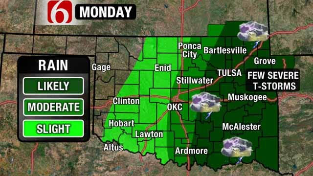 Monday Rains May Put A Dent In Green Country Drought