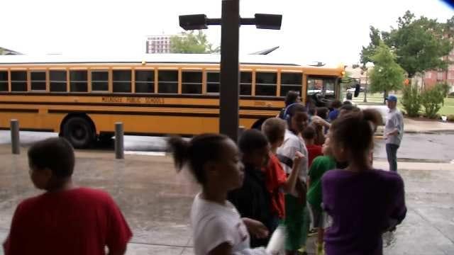 Muskogee Students Practice Surprise Evacuation Drill
