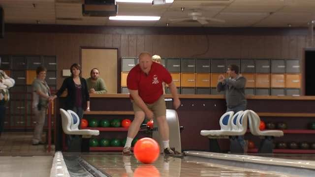BA Special Olympian Bowler Tunes Up Against Rick Wells