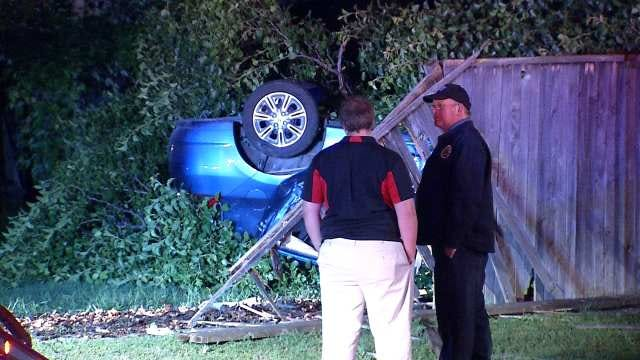 Driver Crashes Through Owasso Neighborhood Fence