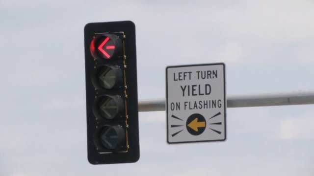 New Type Of Left Turn Traffic Signal Installed In Sand Springs