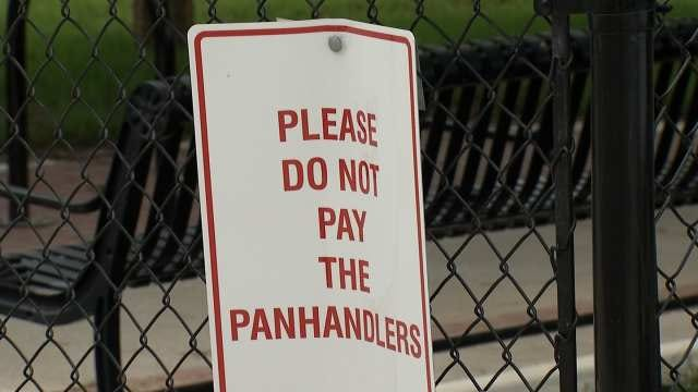 Brady District Posts Signs About Not Paying Panhandlers