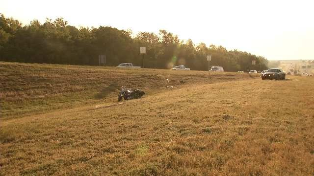 Michigan Man Crashes Motorcycle In Catoosa, Lies In Median For An Hour