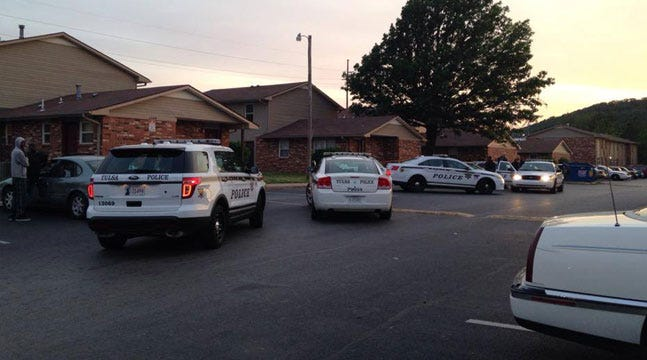 Tulsa Police Respond To Shots Fired At Apartment Complex