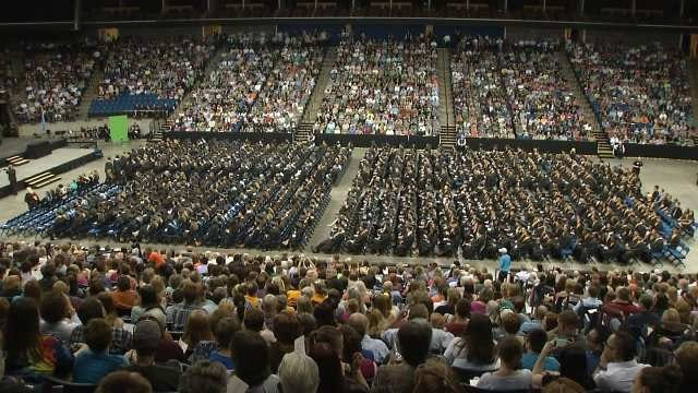 Largest BA Class First To Graduate At BOK Center