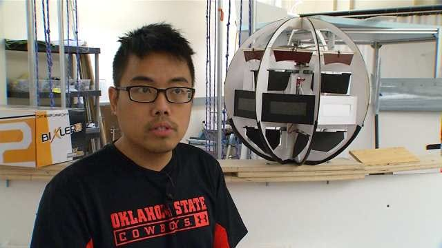OSU Students Hope 'Flying, Rolling Orb' Will Help In Emergency Situations