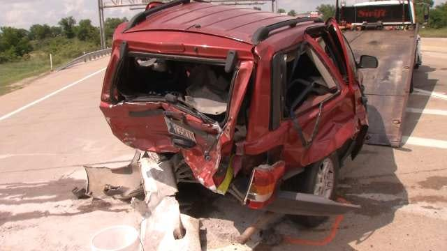 2 Children, Adult Hospitalized After Crash On Muskogee Turnpike