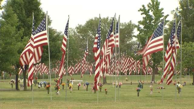 Flags Honoring Veterans Remain Up At Floral Haven