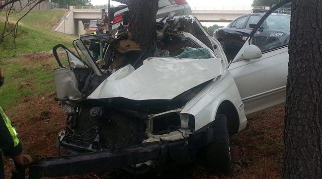 Jenks Man Injured After Car Slams Into Tree On Creek Turnpike In Tulsa