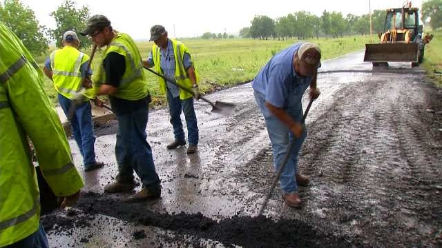 Muskogee County Crews Repair Flood-Damaged Roads