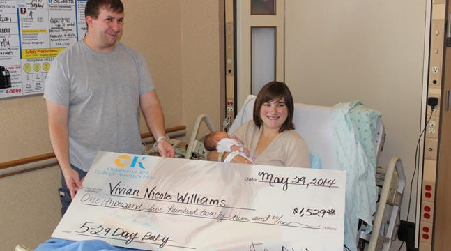 BA Family Receives College Fund For First Baby Born Thursday