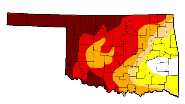 Showers Help, But Drought Persists In Oklahoma