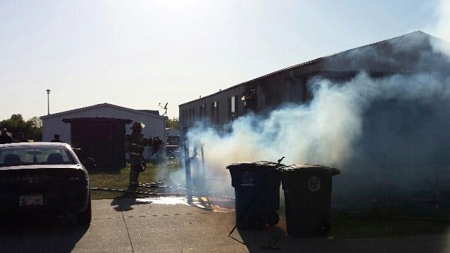 Dad, Kids Escape East Tulsa Mobile Home Fire