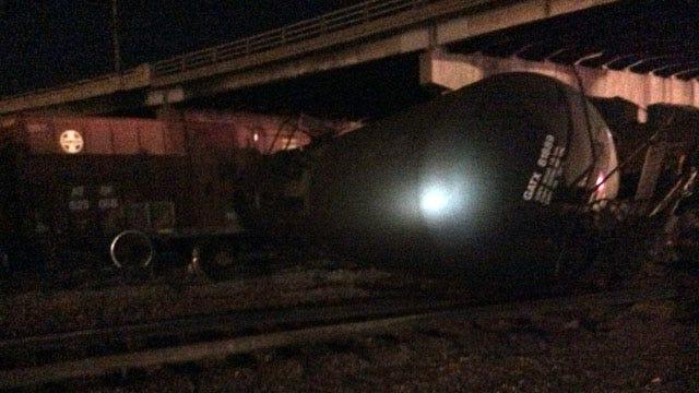 Tulsa Train Derailment Closes Interstate 244 Ramp At 23rd Street