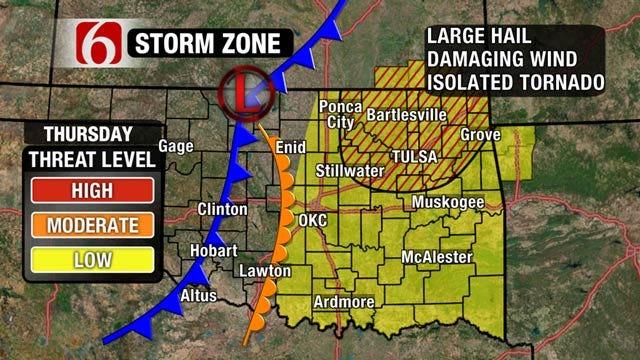 Chance Of Severe Weather For NE Oklahoma Thursday