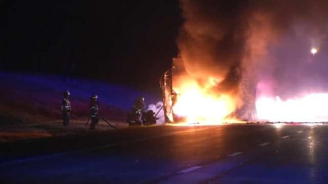 Creek Turnpike Charter Bus Fire Ends Lawton Students' Trip