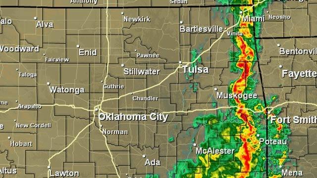 Threat Of Severe Weather Across Eastern Oklahoma