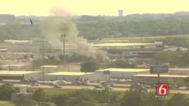 Fire Erupts At Tulsa Shop Near BA Expressway and 169