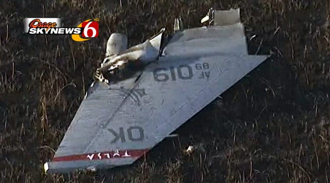 F-16s Collide Over Kansas; One Crashes, One Returns To Tulsa