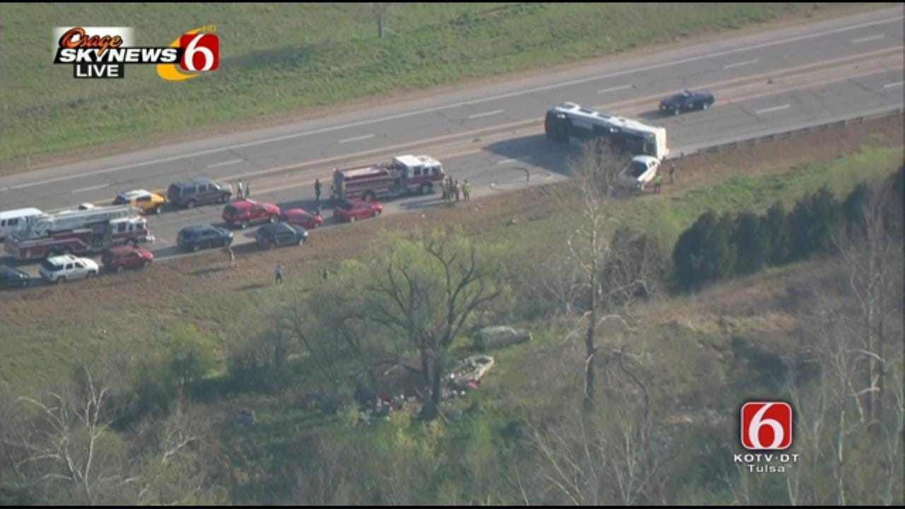 Overturned RV Cleaned Up, Traffic Resumes